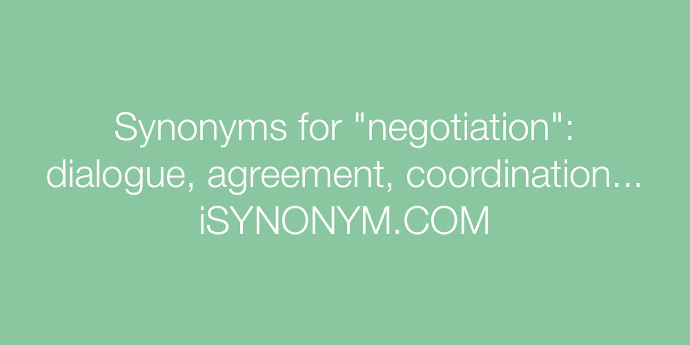 Synonyms negotiation