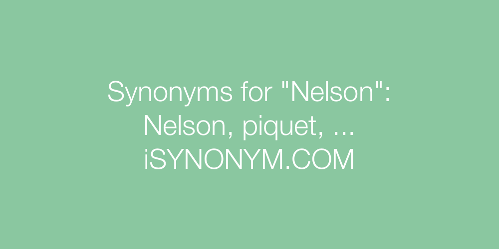 Synonyms Nelson