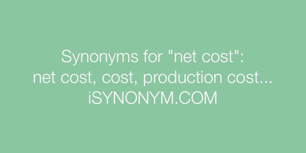 Synonyms net cost