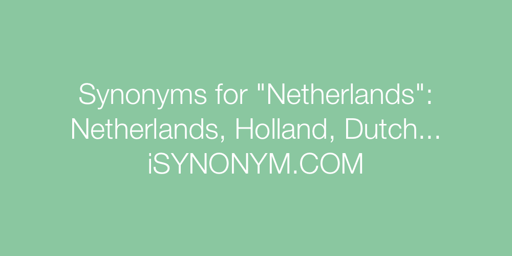 Synonyms Netherlands