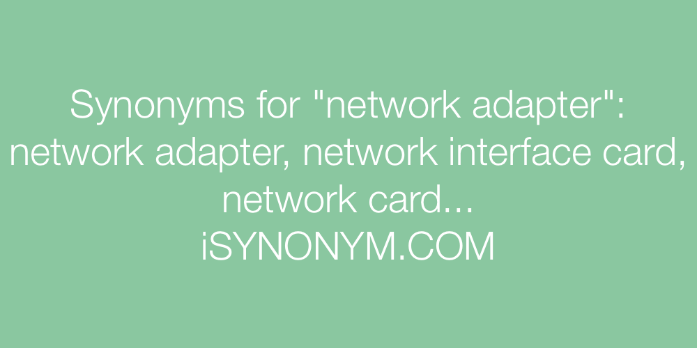 Synonyms network adapter