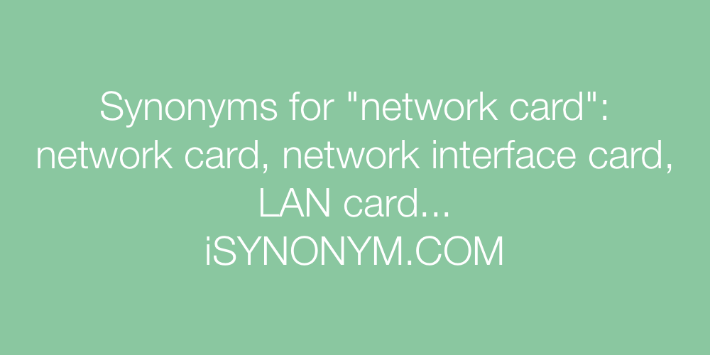 Synonyms network card