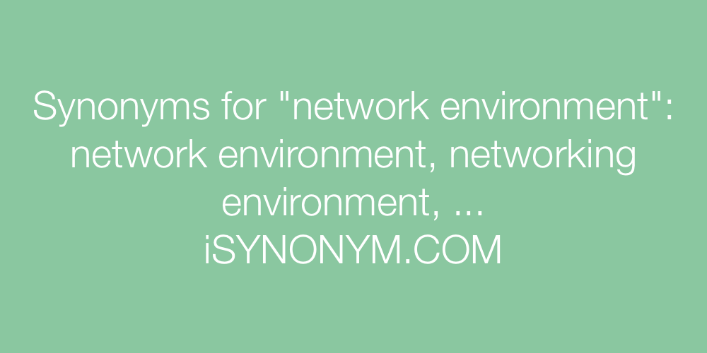 Synonyms network environment