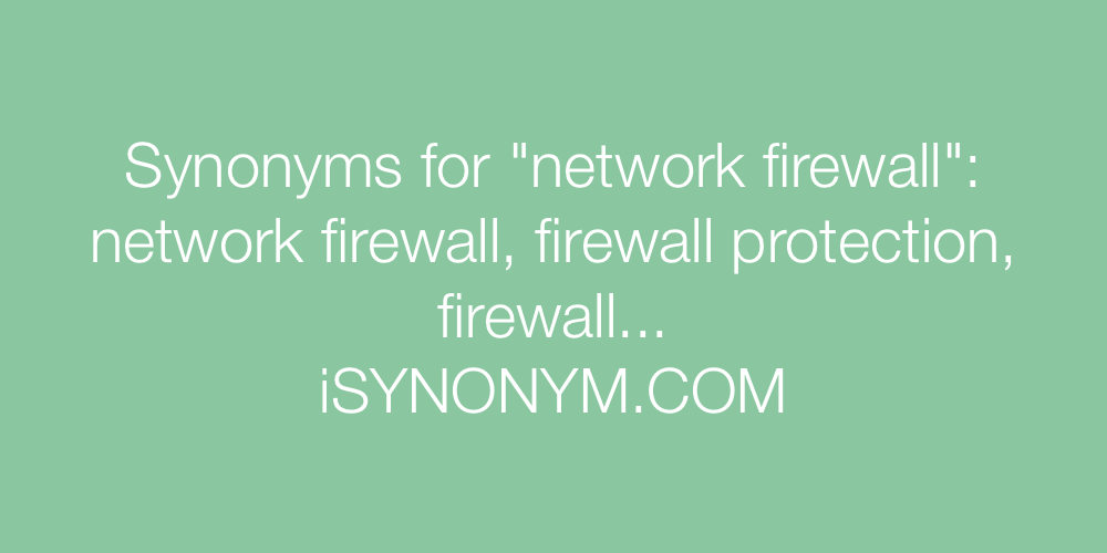 Synonyms network firewall
