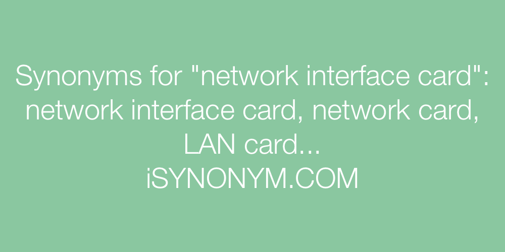 Synonyms network interface card