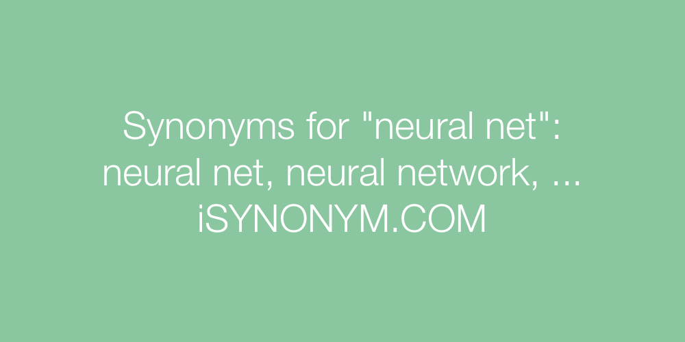 Synonyms neural net
