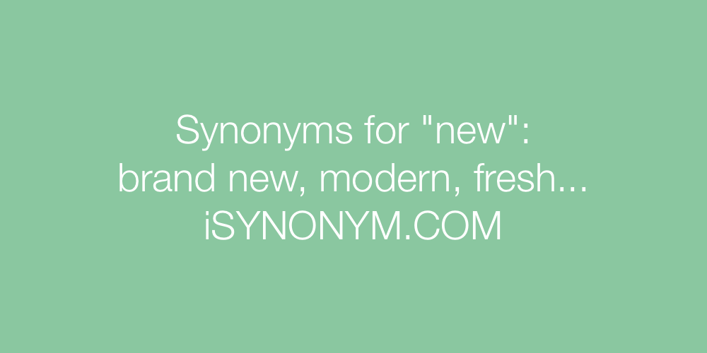 Synonyms new