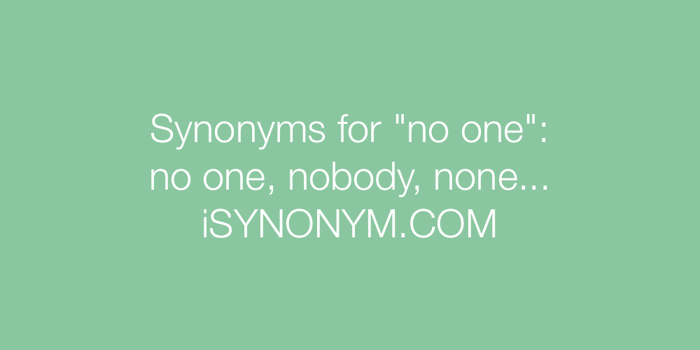 Synonyms no one