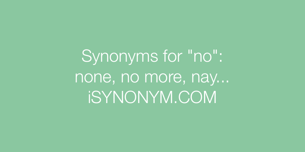 Synonyms no