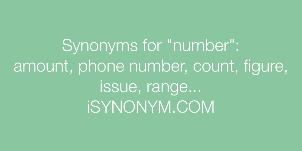 Synonyms number