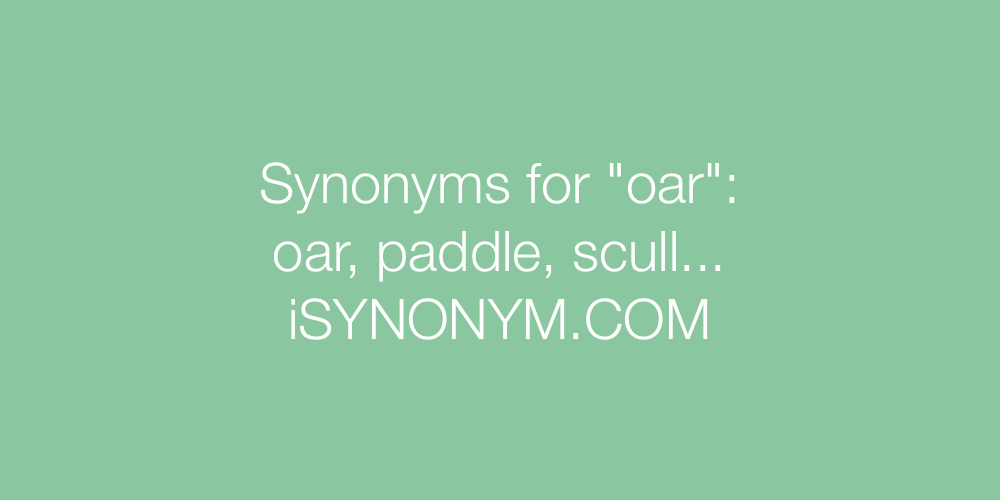 Synonyms oar