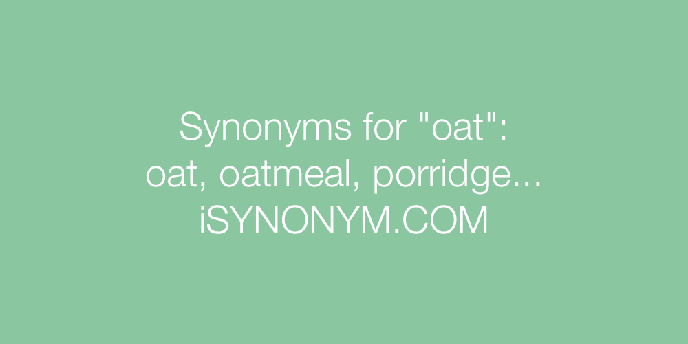 Synonyms oat