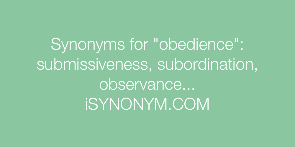 Synonyms obedience