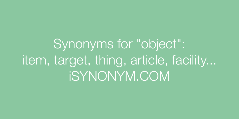 Synonyms object