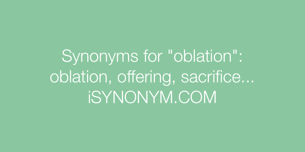 Synonyms oblation