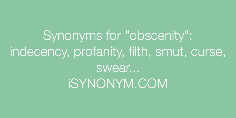Synonyms obscenity
