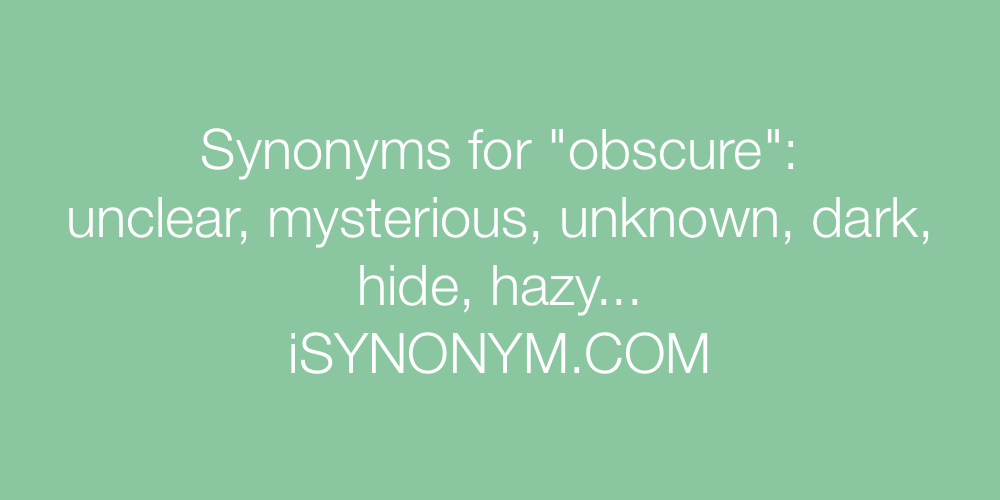 Synonyms obscure
