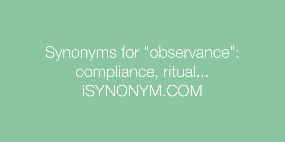 Synonyms observance