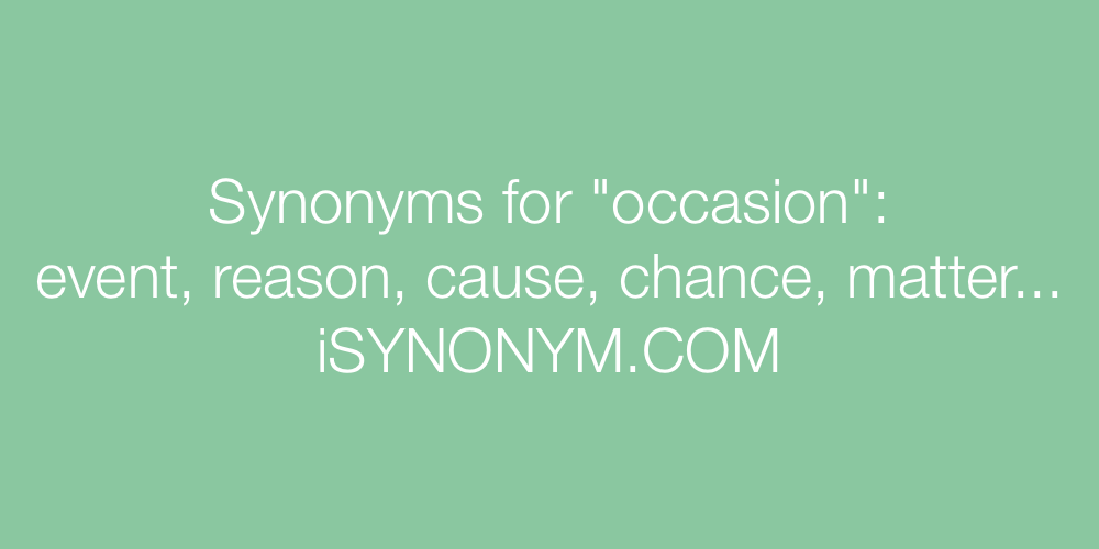 Synonyms occasion