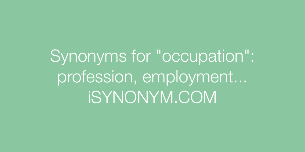 Synonyms occupation