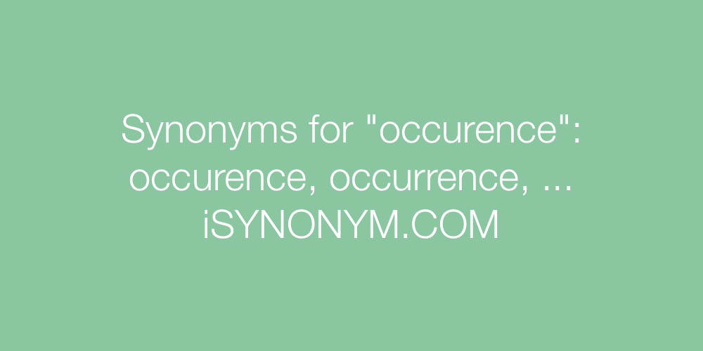 Synonyms occurence