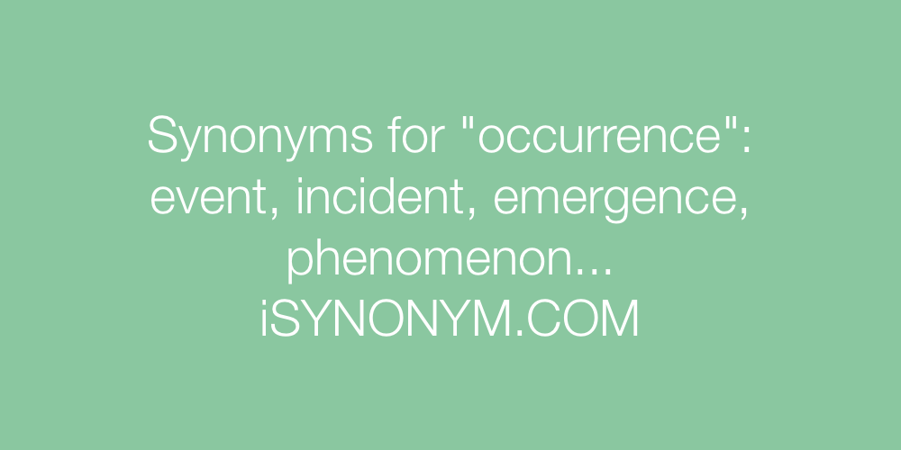 Synonyms occurrence