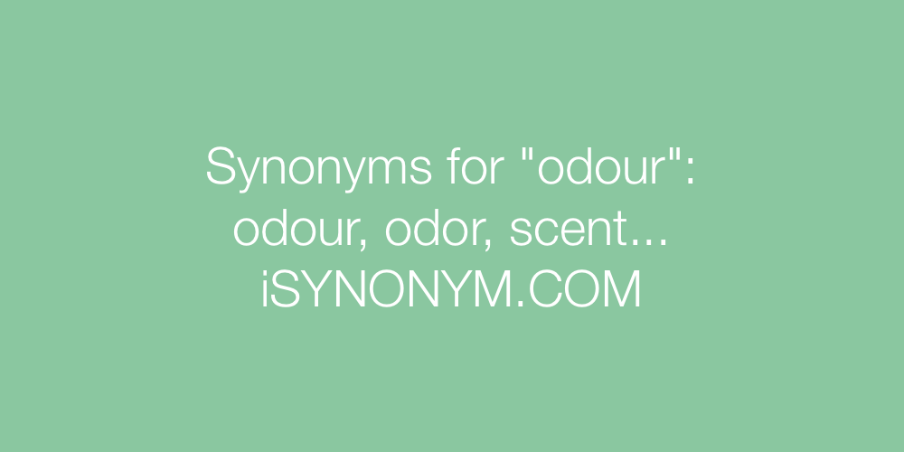 Synonyms odour