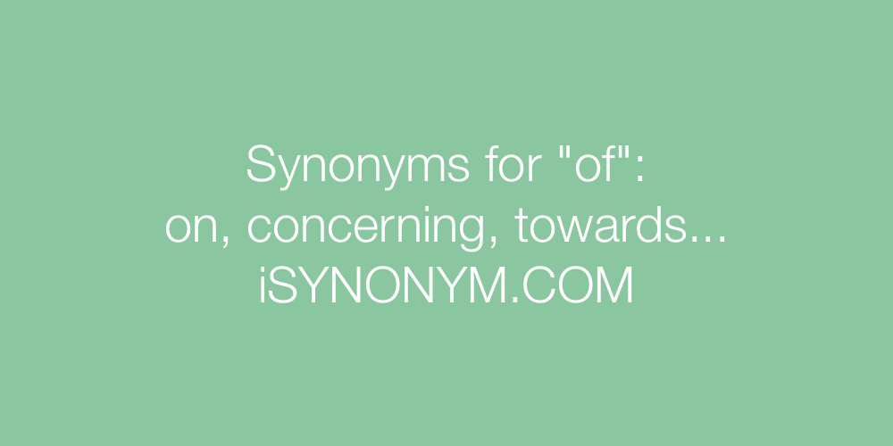 Synonyms of