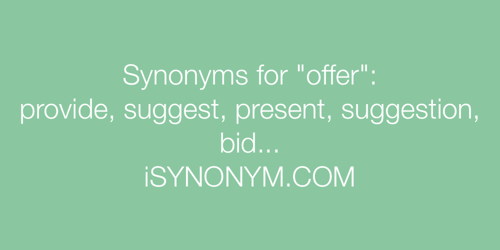 Synonyms offer