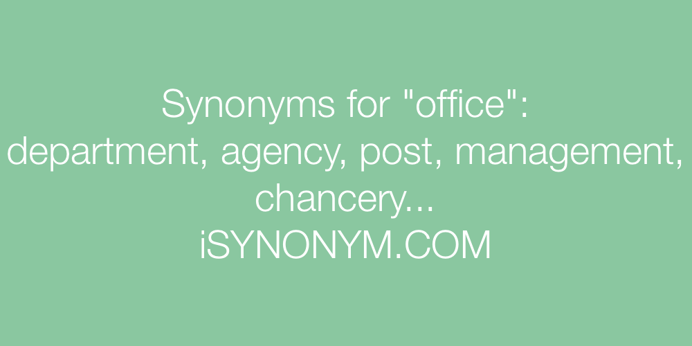 Synonyms office