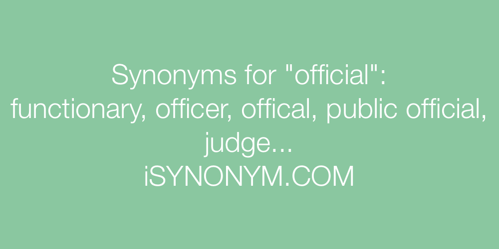 Synonyms official