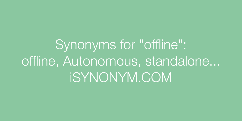 Synonyms offline