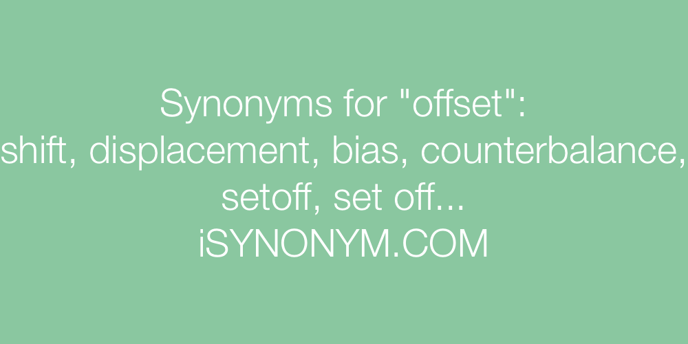 Synonyms offset