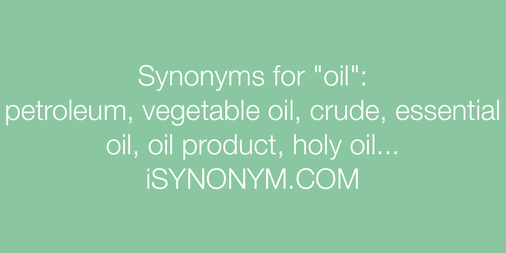 Synonyms oil