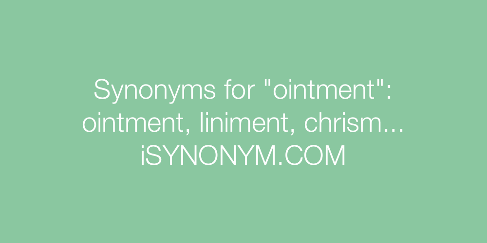 Synonyms ointment