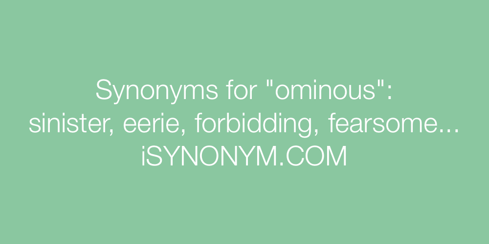 Synonyms ominous