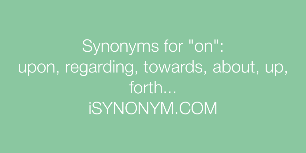 Synonyms on