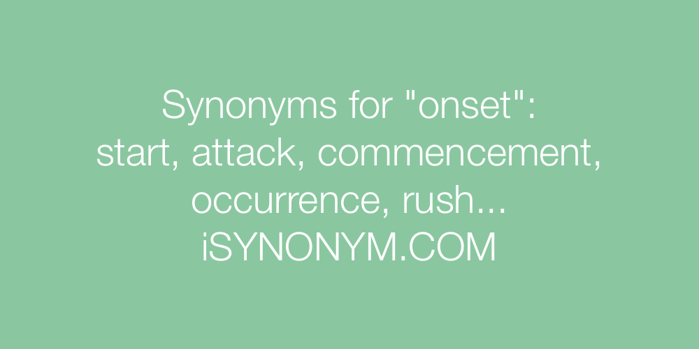 Synonyms onset