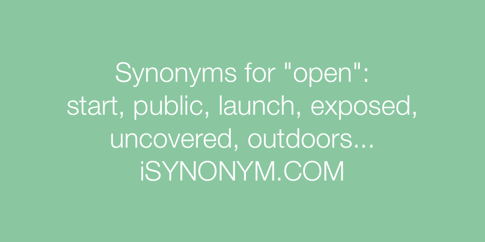 Synonyms open