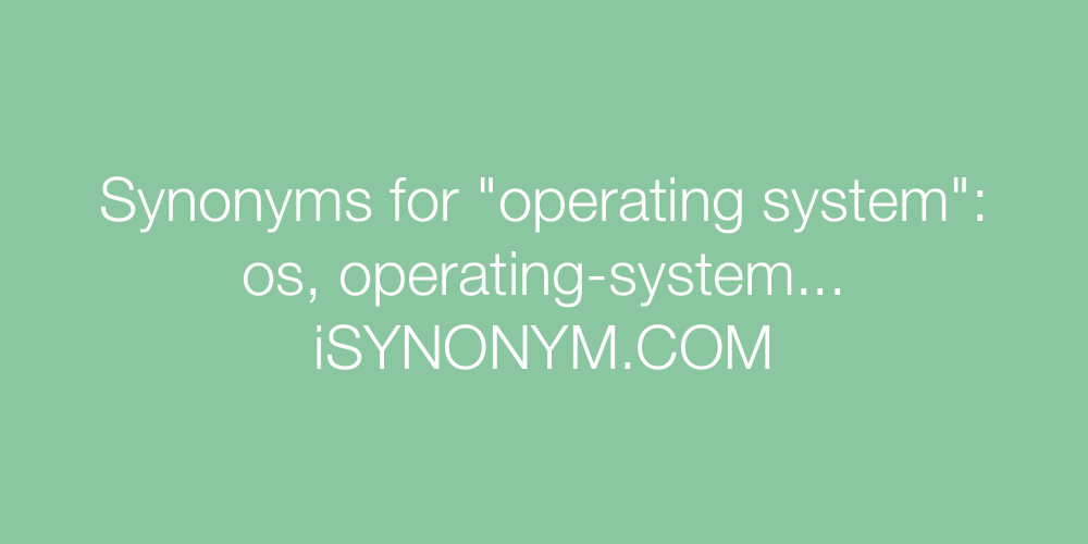 Synonyms operating system