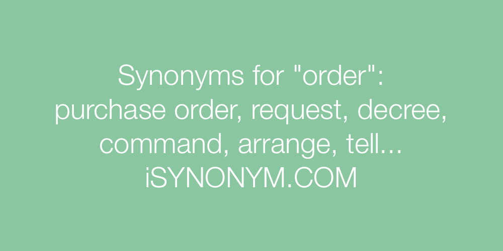 Synonyms order