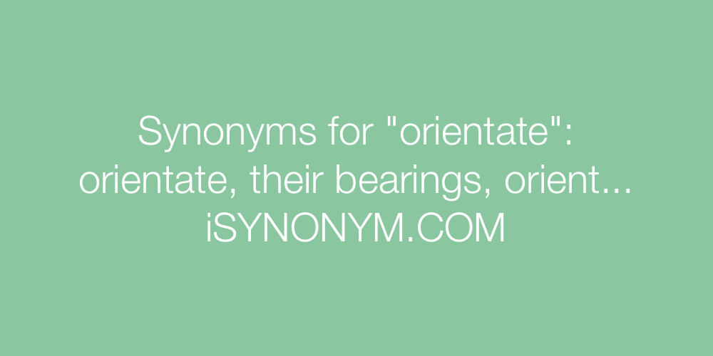 Synonyms orientate