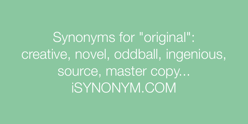 Synonyms original