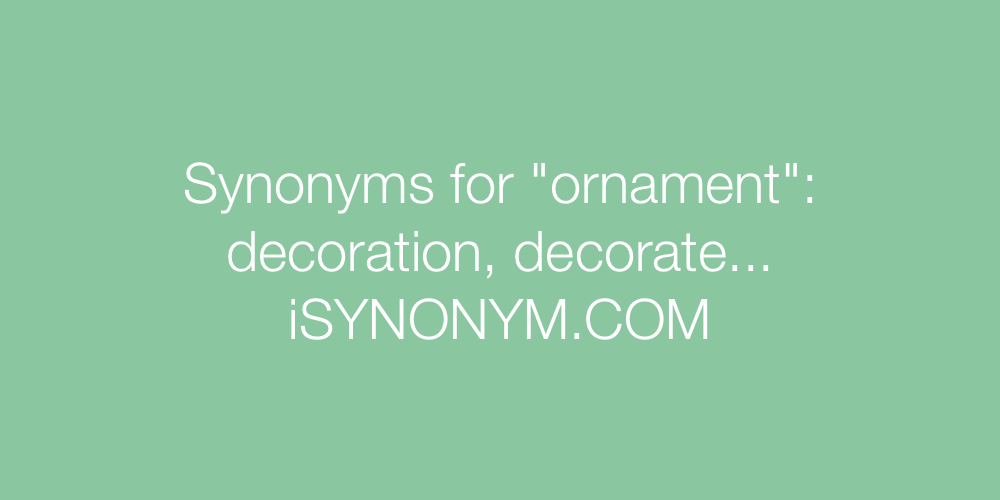 Synonyms ornament