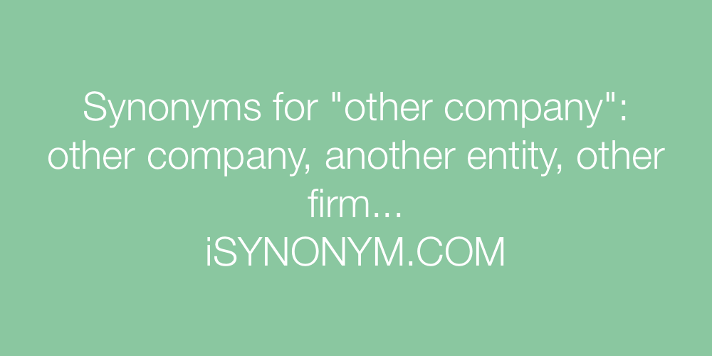 Synonyms other company