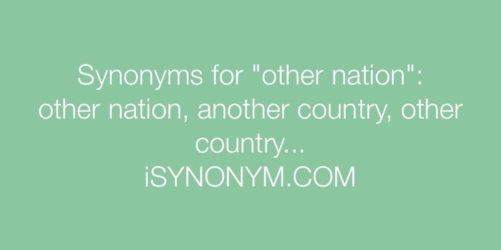 Synonyms other nation