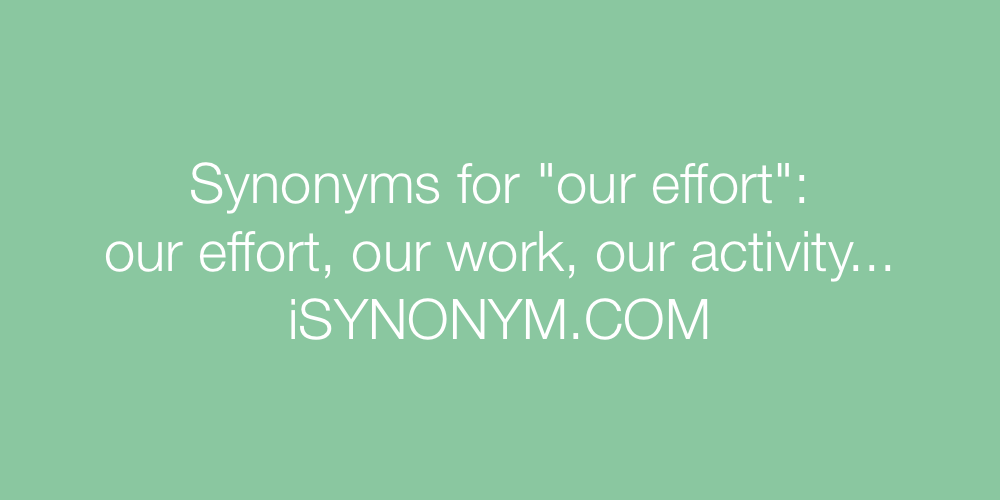 Synonyms our effort