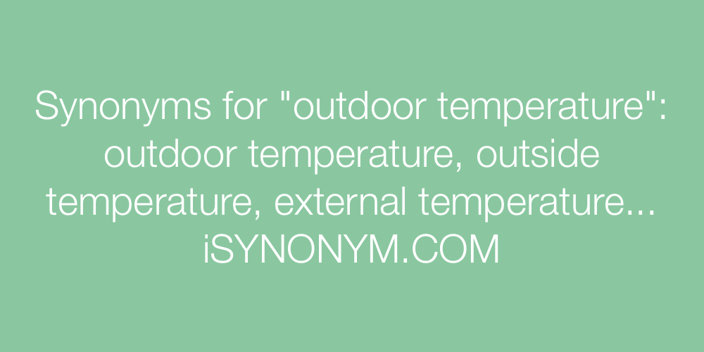 Synonyms outdoor temperature