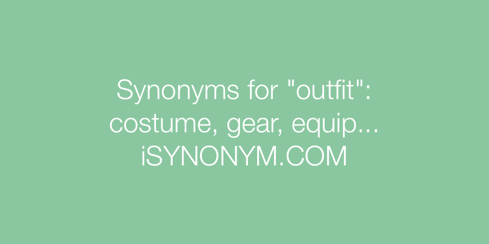 Synonyms outfit