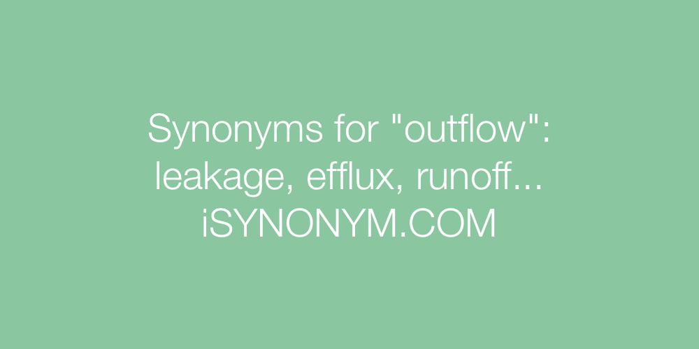 Synonyms outflow